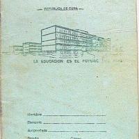 School notebook. Cuba. 1980s.