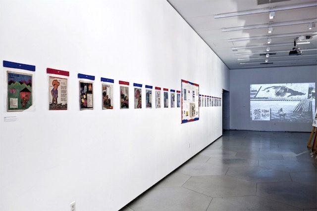 Vista de la exposición Pioneros: Building Cuba's Socialista Childhood
