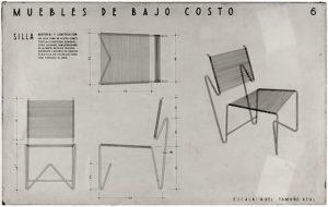 Diseños de muebles de Clara Porte expuestos en el Museo de Arte Moderno de Nueva York (MOMA)