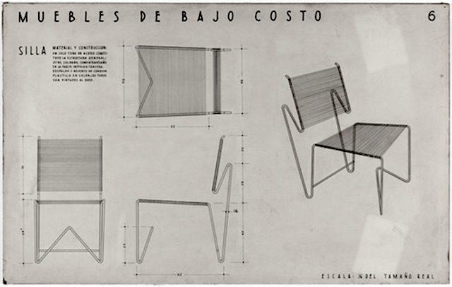 Diseños de muebles de Clara Porcet expuestos en el Museo de Arte Moderno de Nueva York (MOMA)
