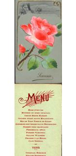 Menú de la cena ofrecida al gobernador provisional de Cuba Charles E. Magoon. 1907