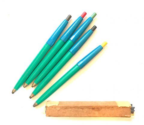 juego de lapiceros con minas de colores