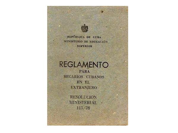 Reglamento para becarios cubanos en el extranjero