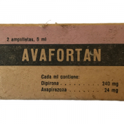 Envase del medicamento Avafortán
