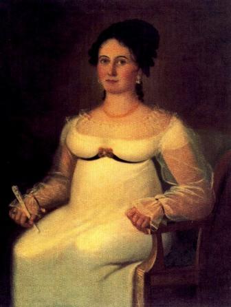 Retrato de Justa de Alto y Bermúdez, por Vicente Escobar. Tempranos 1800s.