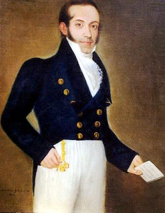 Don Agustín de las Heras, por Vicente Escobar. 1828.