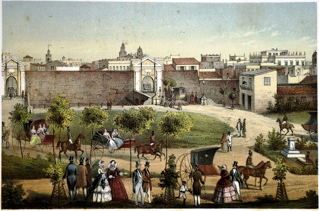 Puertas de Monserrate. La Habana. Obra de Federico Mialhe. Cortesía de Diana Fernández.