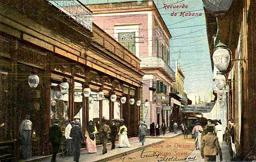 Calle Obispo. La Habana. 1900.
