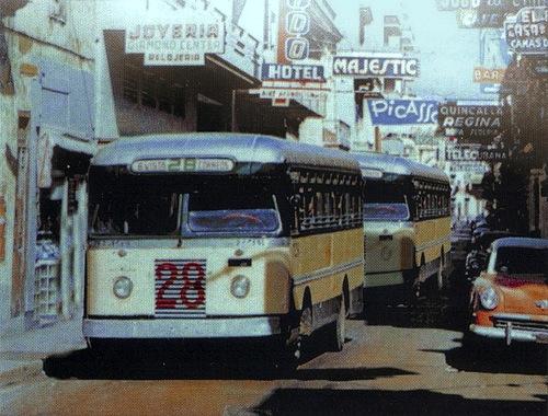 Calle Consulado y Hotel Lido. 1954.