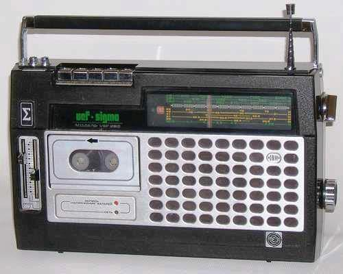 Radio/grabadora Vef-Sigma.