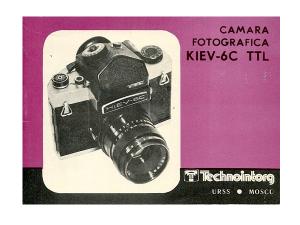Manual de instrucciones de la cámara Kiev-6C TTL