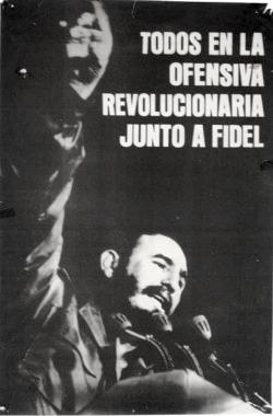 Cartel de la Ofensiva Revolucionaria. Imagen tomada de dlproject.