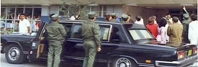 ZIL-115 usado por Fidel Castro en los años 1980s. Imagen tomada de Café Fuerte.