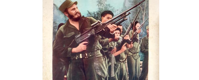 Imagen de propaganda política del Ejército Rebelde y Fidel Castro