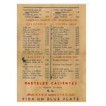 menu Ten Cents