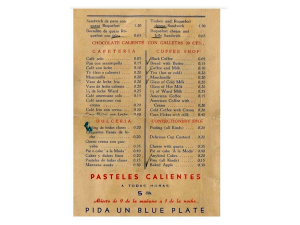 menu Ten Cents