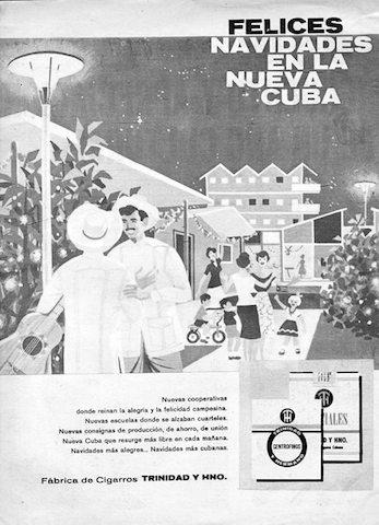 Navidades de 1961. Imagen tomada del muro de FB de EtnoCuba.
