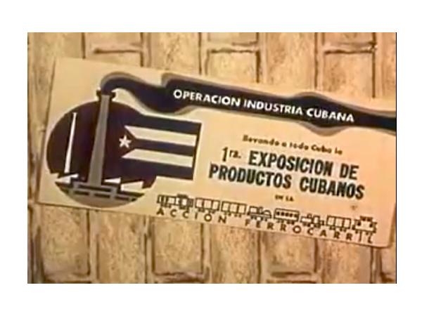 Operación Industria Cubana. 1959.