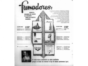 Cajetillas de cigarros cubanos diseñadas en 1961