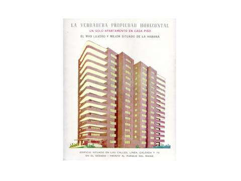 Brochure promocional de un edificio de propiedad horizontal
