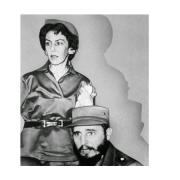 Celia Sánchez y Fidel Castro