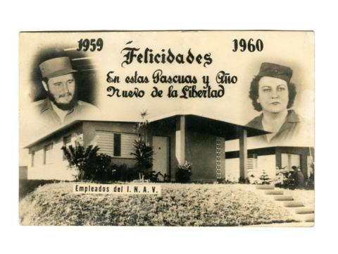 Postal de navidad del Instituto Nacional de Ahorro y Viviendas (INAV)