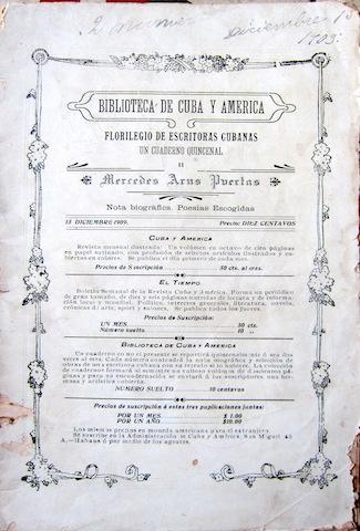 cuaderno de poesia Biblioteca de Cuba y America