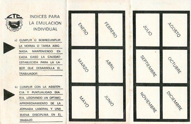 """Carné de emulación CTC """"Cuba, primer país socialista de América"""""""