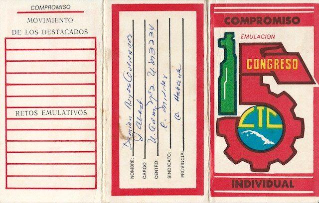 """Carné de emulación individual """"15 congreso CTC""""."""