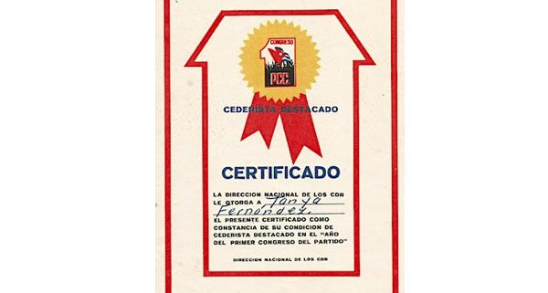 Certificado Cederista Destacado
