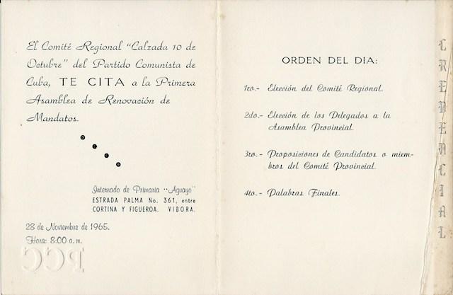 Primera Asamblea de Renovación de Mandatos del Partido Comunista de Cuba