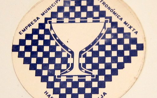 Portavasos promocional de la Empresa Municipal de Gastronomía Mixta de la Habana Vieja