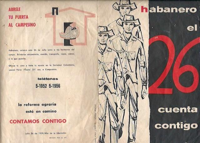 Plegable promocional de la Concentración Campesina