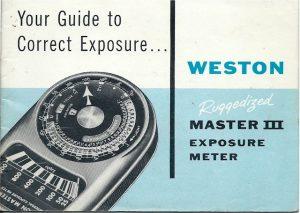 Manual del fotómetro Weston