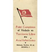 Notificación de territorio libre de analfabetismo