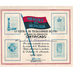 Diploma de trabajador de avanzada