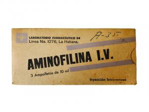 Caja de ámpulas de Aminofilina intravenosa de 10 ml