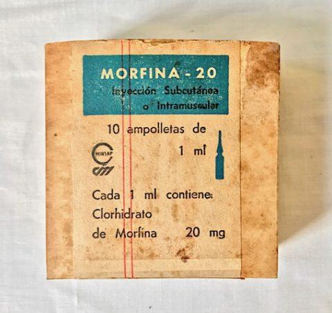 ámpulas inyectables de morfina