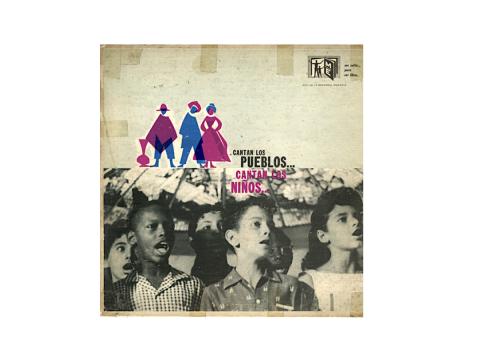 Carátula del disco Cantan los pueblos cantan los ninos
