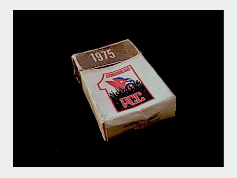 Cajetilla de cigarros negros 1975 1er Congreso PCC