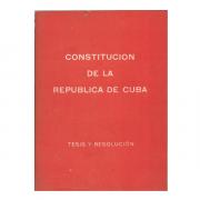 Constitución de la República de Cuba.