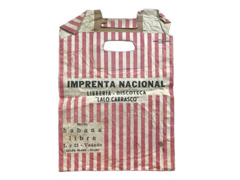 Sobre de papel de la librería Imprenta Nacional, nacionalizada