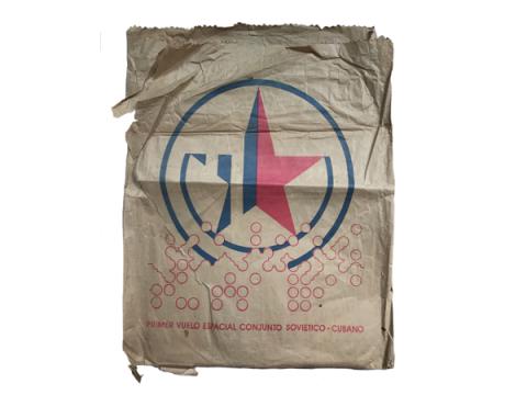 Sobre de papel cartucho que promociona el Vuelo Espacial Conjunto Soviético-Cubano
