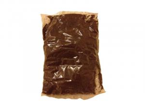 Paquete de café molido (y mezclado con chícharos) comercializado en el mercado normado