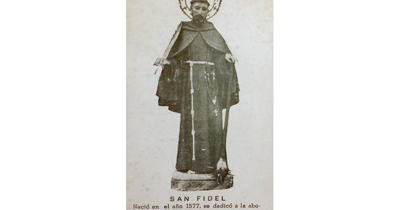 Estampa religiosa de San Fidel